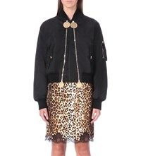 Givenchy Double Zip Shell Bomber Jacket Blk