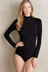 Anthropologie Turtleneck Shapewear Bodysuit Black