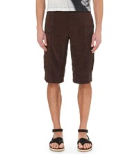 Dries Van Noten Pavo Striped Satin Cargo Shorts Bro