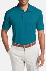 Men's Cutter And Buck 'Genre' Drytec Moisture Wicking Polo Teal Blue