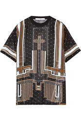 Givenchy Printed Silk Chiffon T Shirt
