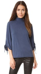 Just Female Cosmo Tie Sleeve Blouse Dress Blue