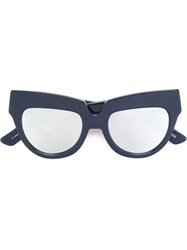House Of Holland 'Scrappy' Sunglasses Blue