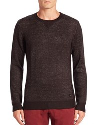 Madison Supply Long Sleeve Knit Pullover Black