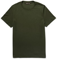 Michael Kors Slim Fit Cotton Jersey T Shirt Green