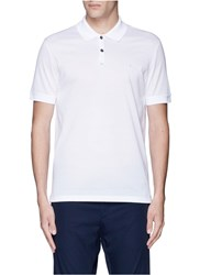 Lanvin Slim Fit Reverse Seam Polo Shirt White