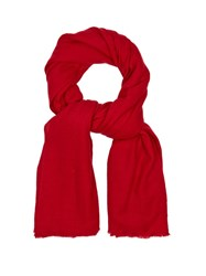 Denis Colomb Travel Nomad Cashmere Scarf Red