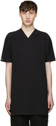Y 3 Black Basic V Neck T Shirt