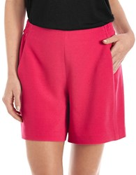 424 Fifth Textured Crepe Shorts Pink Paradise