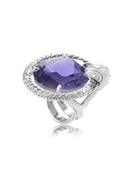 Just Cavalli Just Queen Crystal Silvertone Ring