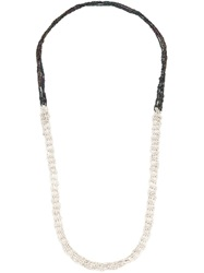 Arielle De Pinto One Strand Chain Necklace White