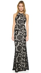 Alice Olivia Adel Side Cutout Dress Black Natural