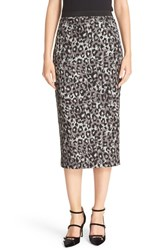 Tracy Reese Women's Leopard Print Crepe Pencil Skirt