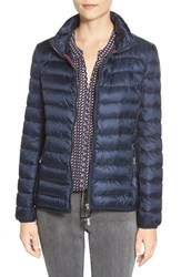 Women's Tumi 'Pax On The Go' Packable Quilted Jacket Navy