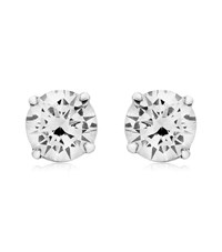 Carat 0.5Ct Eternal Stud Earrings Female