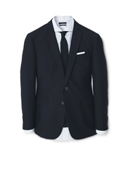 Mango Plain Slim Fit Formal Blazers Black