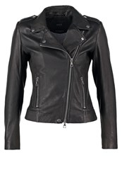 Set Leather Jacket Black