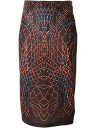 Marcelo Burlon County Of Milan 'Torreon' Skirt Red