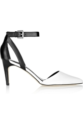 Sigerson Morrison Saber Two Tone Leather Pumps White