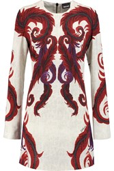 Just Cavalli Printed Cady Mini Dress Red