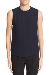 A.L.C. Women's 'Marc' Lace Back Sleeveless Top Navy Black