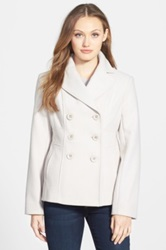 Kenneth Cole New York Wool Blend Peacoat White