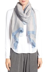 Eileen Fisher Women's 'Pathways' Hand Loomed Wool And Silk Scarf Morning Glory