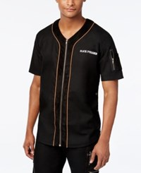Black Pyramid Men's Zip Up Baseball Jersey Shirt