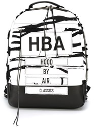 Hood By Air Printed Backpack White