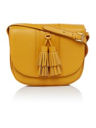 Dickins And Jones Seaton Tassel Saddle Crossbody Bag Yellow