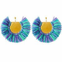 Ricardo Rodriguez Design Pavone Earrings Shades Of Blue And Purple