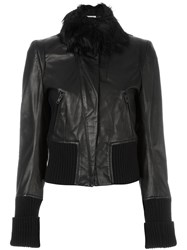 Ann Demeulemeester Ribbed Detailing Cropped Jacket Black