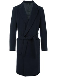 Christian Pellizzari Single Breasted Coat Blue