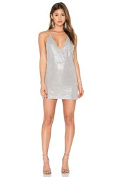 Motel Ringo Finn Dress Metallic Silver