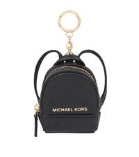 Michael Michael Kors Rhea Leather Backpack Key Charm Female Black