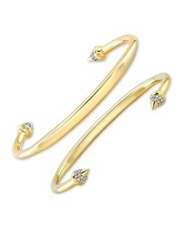Vita Fede Christiana 24K Gold Titan Swarovski Spike Bangle Xs