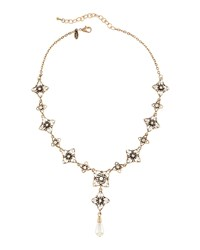 Emily And Ashley Greenbeads By Emily And Ashley Golden Pearly And Crystal Star Y Drop Necklace Women's