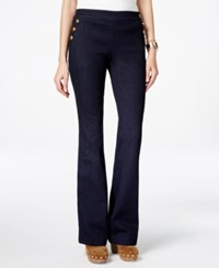 Inc International Concepts Flared Button Trim Jeans Only At Macy's Indigo