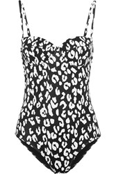 Prism St Barts Leopard Print Underwired Swimsuit Black Leopard Print