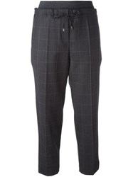Brunello Cucinelli Tapered Cropped Trousers Grey