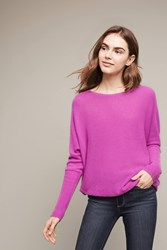 Anthropologie Tauria Cashmere Pullover Bright Red