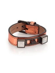 Proenza Schouler Ps11 Metallic Leather Bracelet Copper Silver