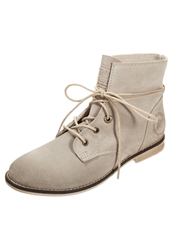 S.Oliver Laceup Boots Nude Beige
