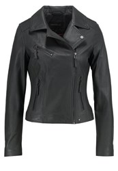 Oakwood Leather Jacket Anthracite