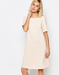 Selected Londan Short Sleeve Dress Peach Blush