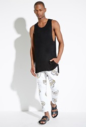 Forever 21 Boy London Boy Knuckles Sweatpants White Gold