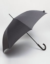 Fulton Walking Umbrella In Black Print Black