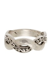 Lois Hill Sterling Silver Signature Cutout Infinity Band Ring Metallic