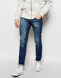 United Colors Of Benetton Mid Wash Jeans In Slim Fit Lightblue902