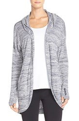 Women's Bench 'Aqueduct' Hooded Cardigan Total Eclipse Marl
